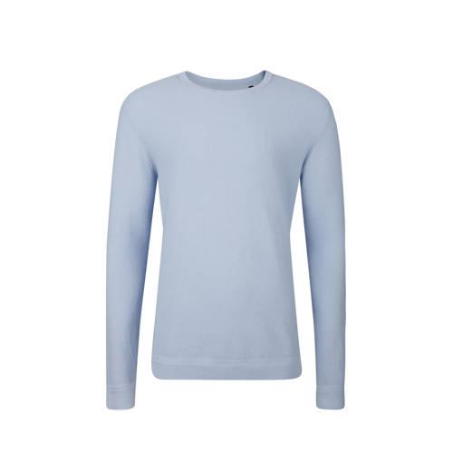 WE Fashion slim fit trui lichtblauw kopen