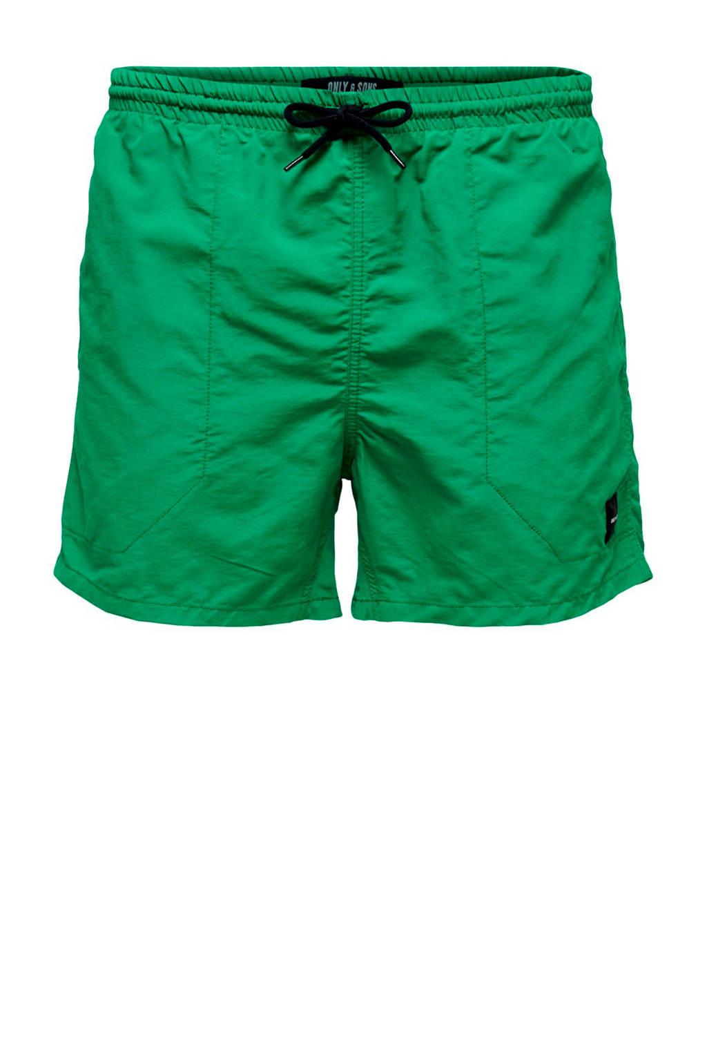 Only & Sons zwemshort groen, Groen