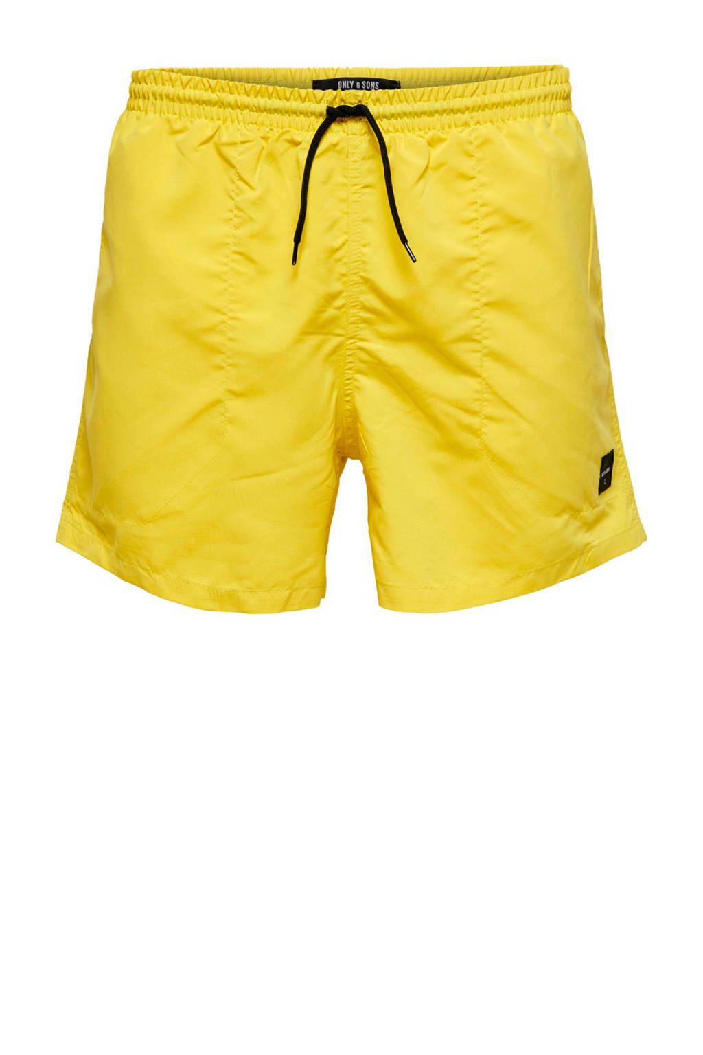 Only & Sons zwemshort geel, Geel