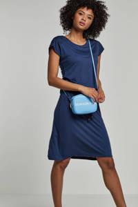 whkmp's beachwave viscose jurk met kant, Indigo blauw