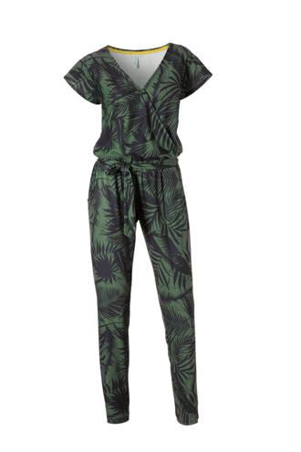 jumpsuit met bladprint
