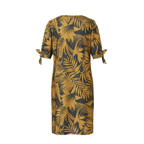 01caba99674f44 whkmp s beachwave jurk met palmprint