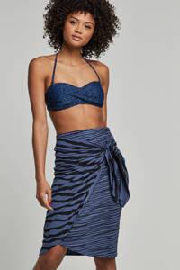 whkmp's beachwave gestreepte rok blauw/zwart, Blauw/zwart