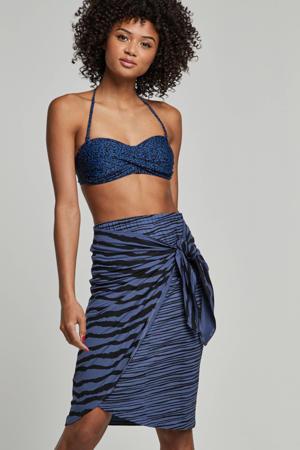 gestreepte rok blauw/zwart
