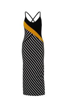 jurk met diagonale streepprint
