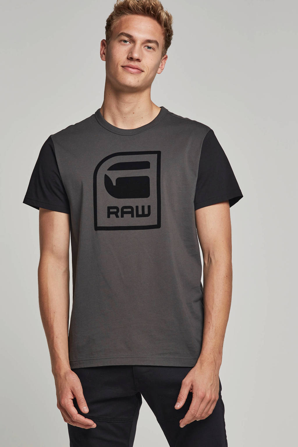 G-Star RAW t-shirt, Groen/zwart