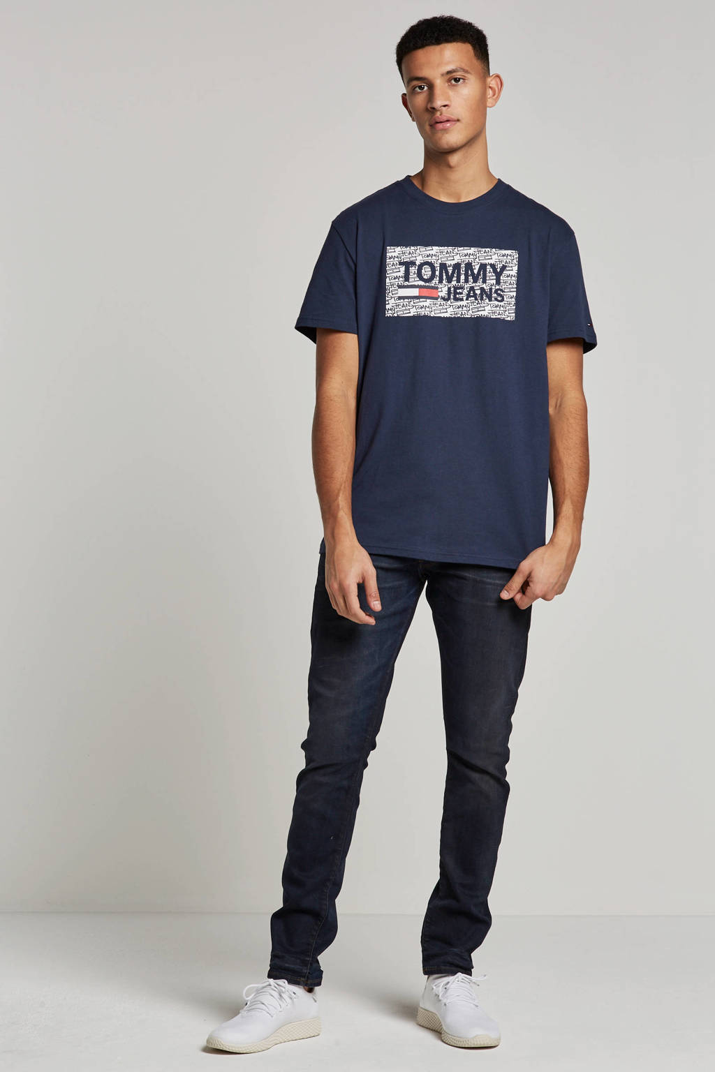 Tommy Jeans T-shirt, Donkerblauw