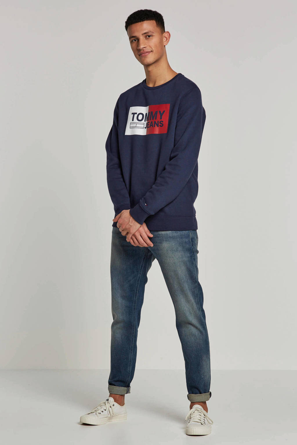 Tommy Jeans sweater, Donkerblauw