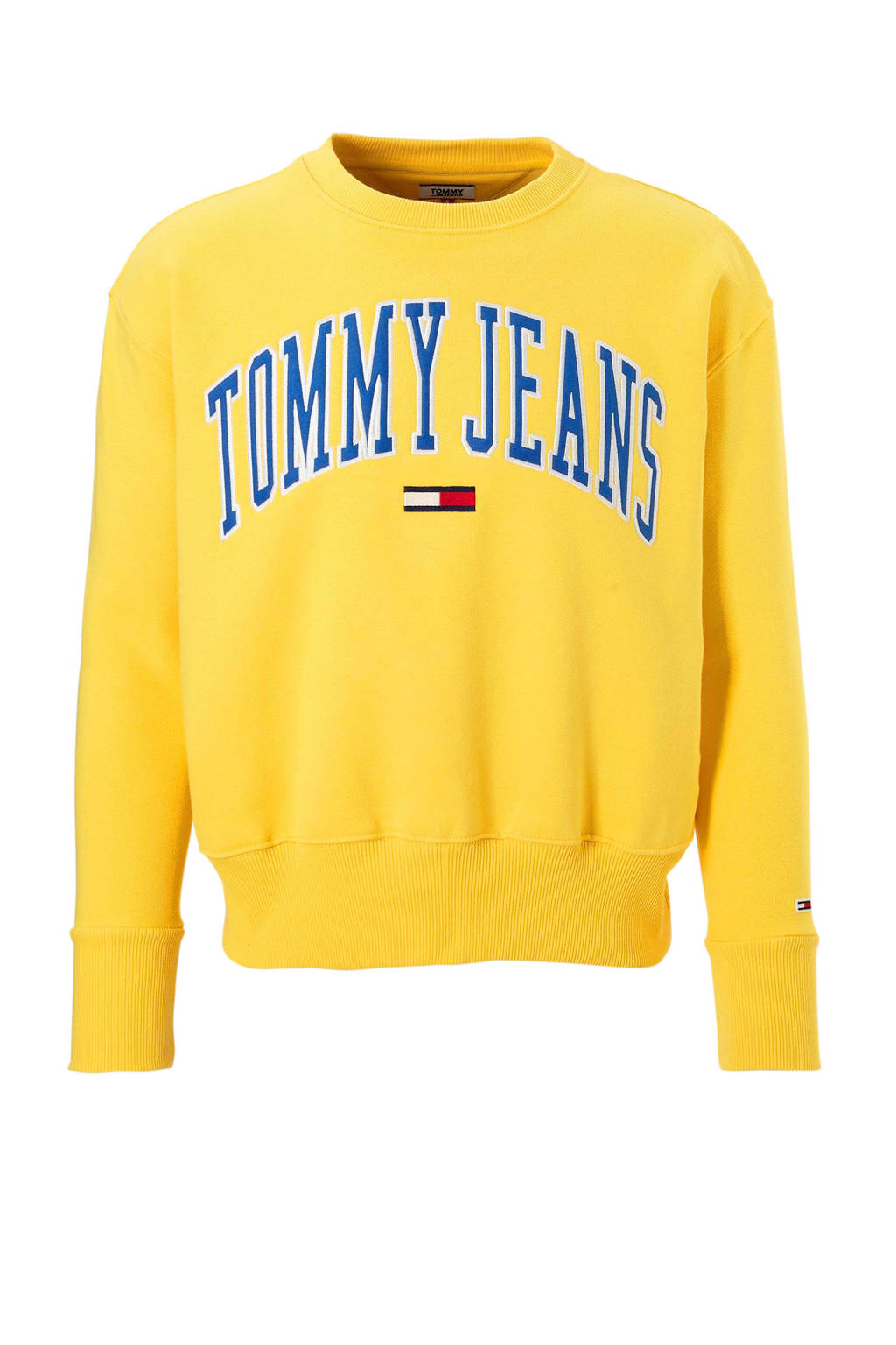 Tommy Jeans sweater Collegiate, Geel