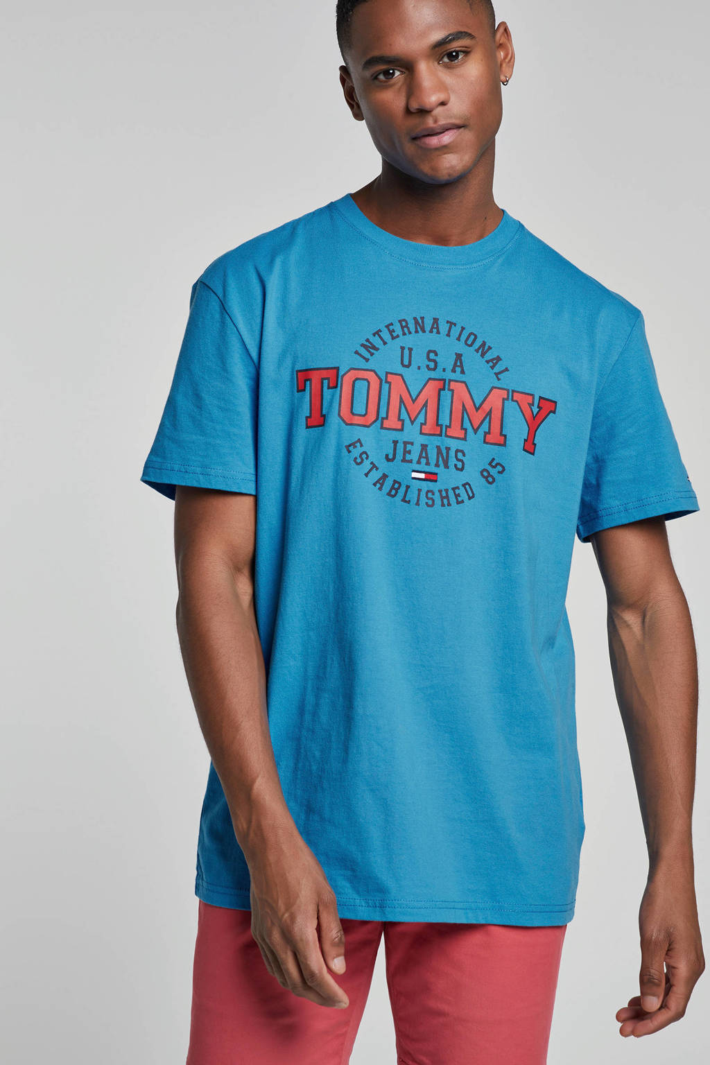 Tommy Jeans T-shirt, Blauw