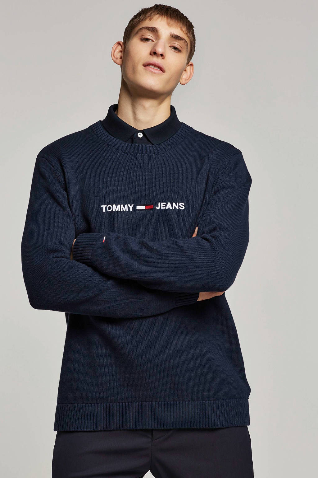 Tommy Jeans trui, Donkerblauw