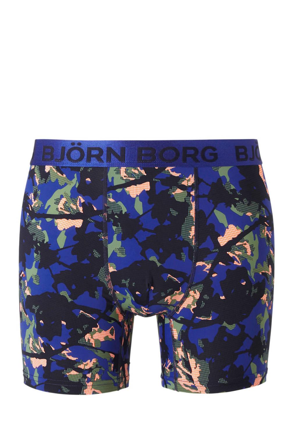 Björn Borg sportboxer, donkerblauw/zwart/groen/oranje