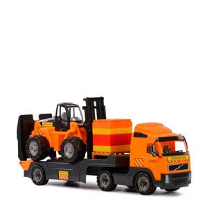 Volvo vrachtwagen met heftruck