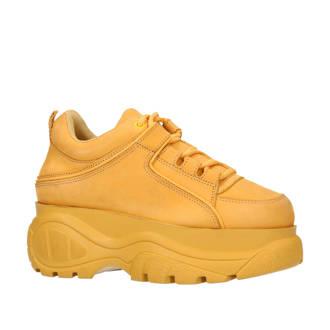 leren Chunky Dad sneakers okergeel