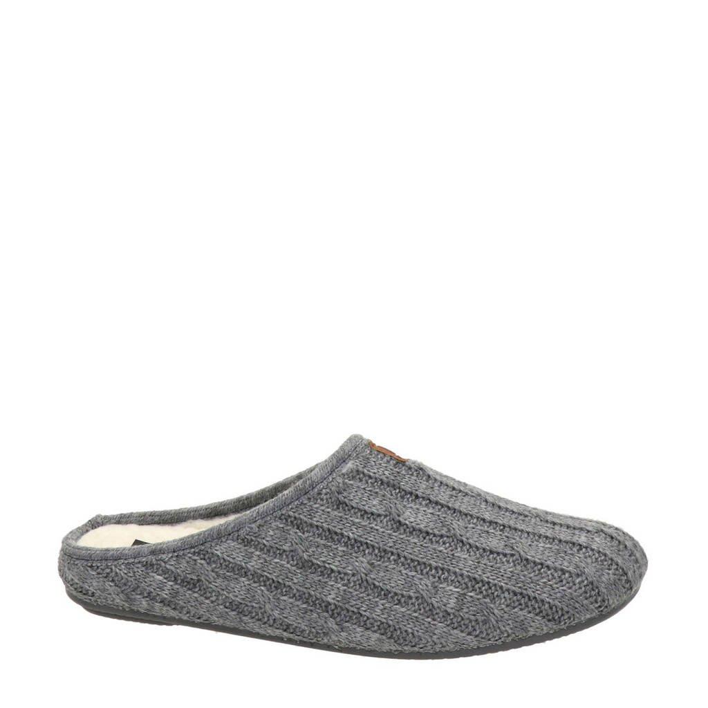 Nelson Home gemêleerde pantoffels grijs, Grijs