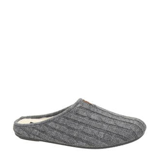 gemêleerde pantoffels grijs