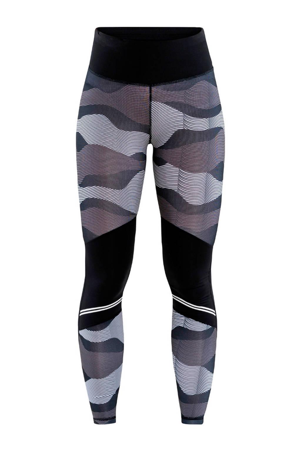 Craft sportbroek zwart/grijs, Zwart/grijs