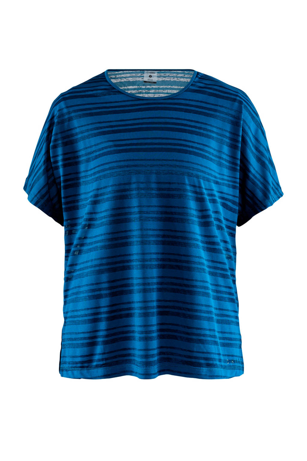 Craft sport T-shirt met all over streepprint blauw, Blauw