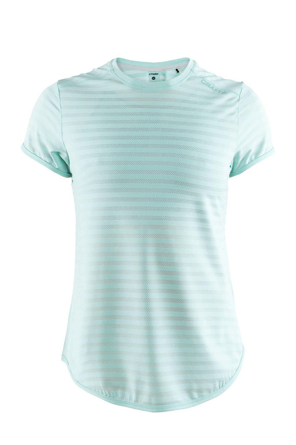 Craft sport T-shirt met all over streepprint blauw, Blauw
