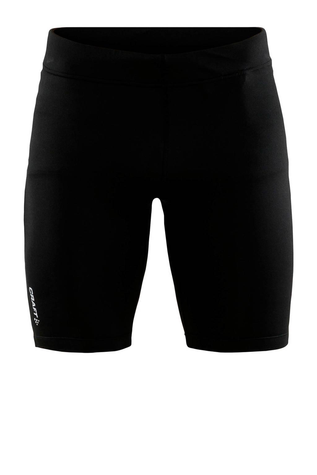 Craft   sportshort met printopdruk zwart, Zwart