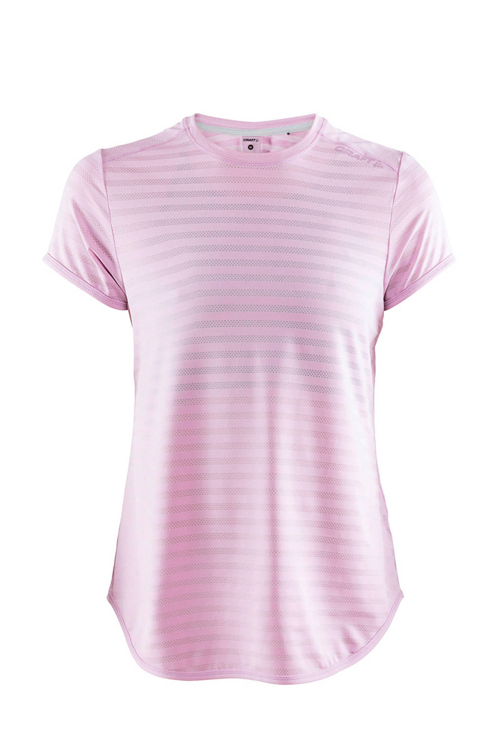 Craft sport T-shirt met all over streepprint roze, Roze