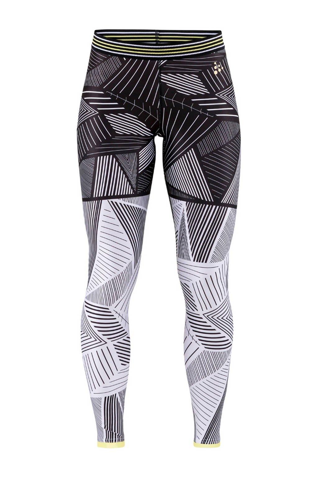 Craft sportbroek zwart/wit, Zwart/wit