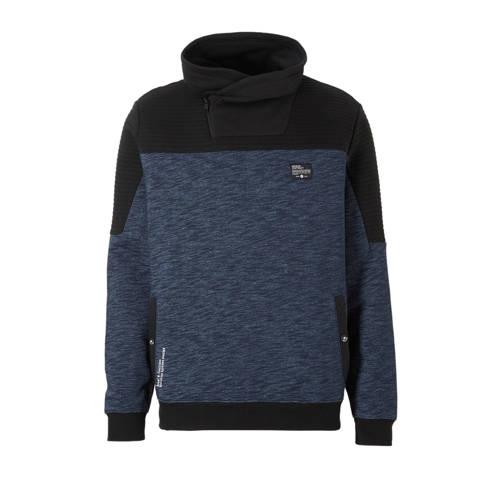 sweater blauw-zwart