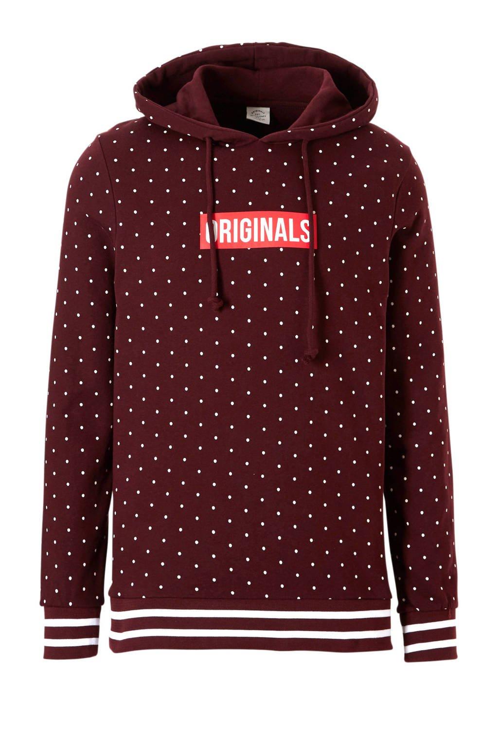 Jack & Jones Originals hoodie, Bordeaux rood