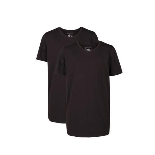 WE Fashion T-shirt - set van 2 zwart