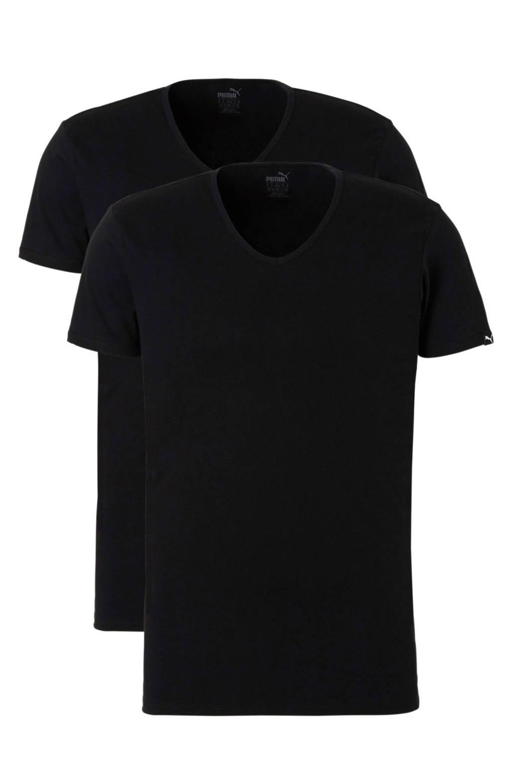 Puma T-shirt (set van 2), Zwart