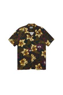 overhemd met all over bloemenprint zwart