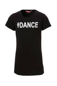 Papillon sport T-shirt zwart, Zwart