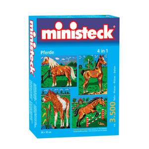 paarden met achtergrond 4-in-1 3500 steentjes