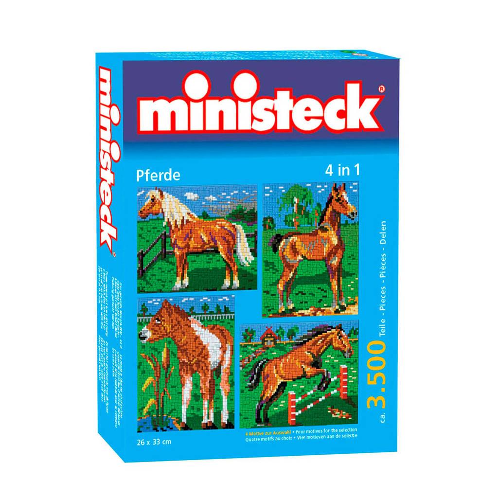 Ministeck paarden met achtergrond 4-in-1