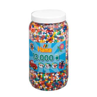 strijkkralen in pot - mix standaard (00), 13.000 stuks