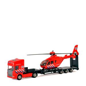 vrachtwagen met helikopter - brandweer