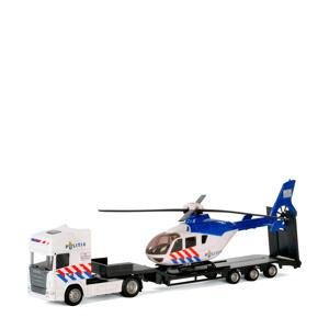 vrachtwagen met helikopter - politie