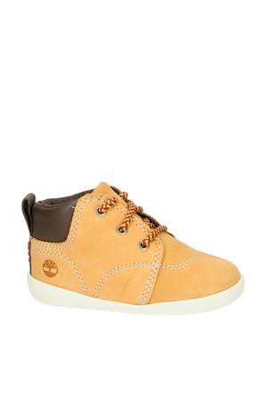 nubuck sneakers geel