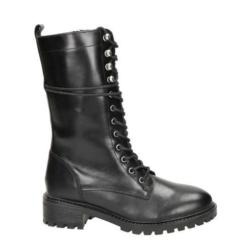 PS Poelman leren laarzen zwart kopen
