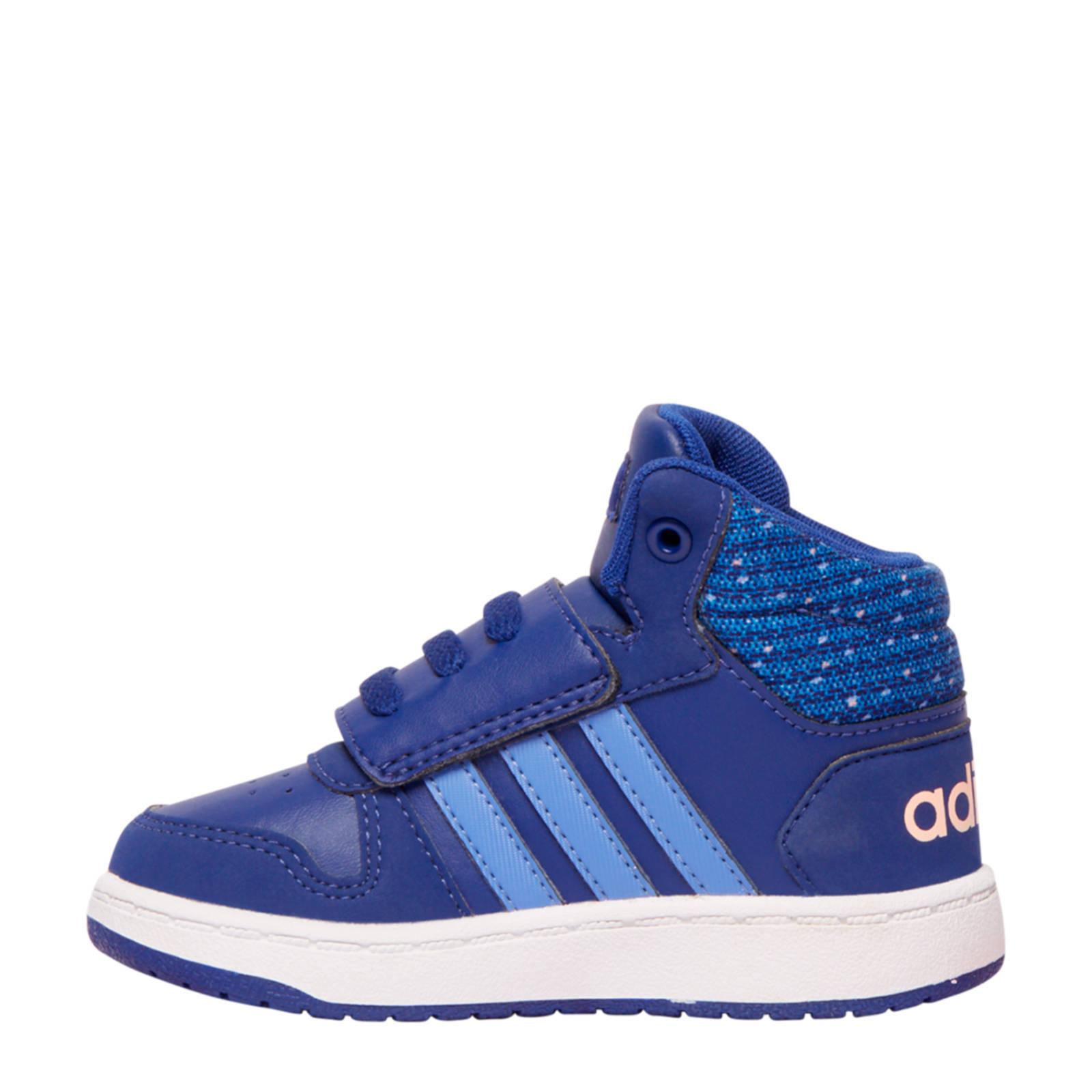 11ae76fd0ef664 adidas Hoops Mid 2.0 leren sneakers blauw | wehkamp
