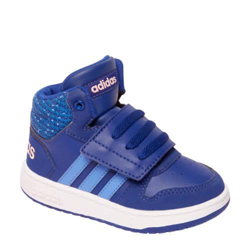 hot sale online 68d2f e3741 adidas Hoops Mid 2.0 leren sneakers blauw