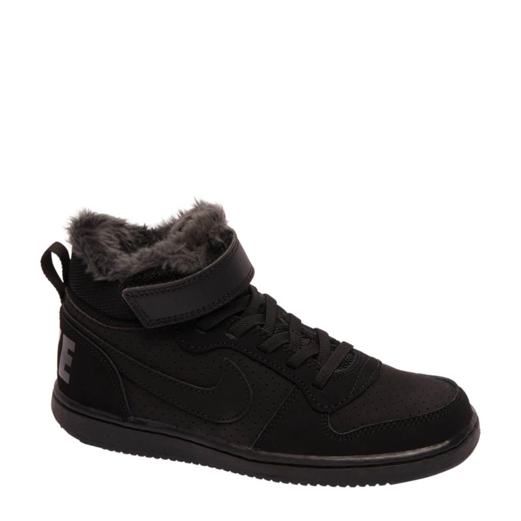 d064d4705b8 Nike Court Borough Mid (GS) sneakers zwart | wehkamp
