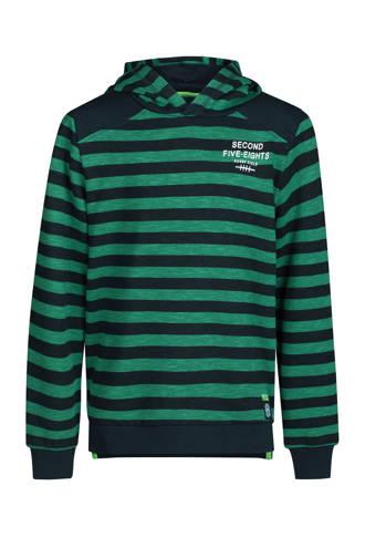 gestreepte hoodie groen