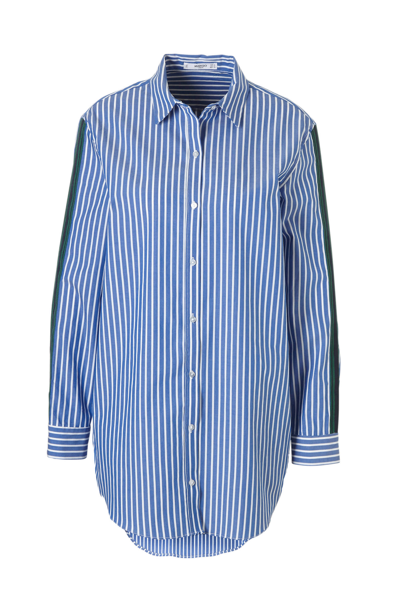 overhemd blouse blauw
