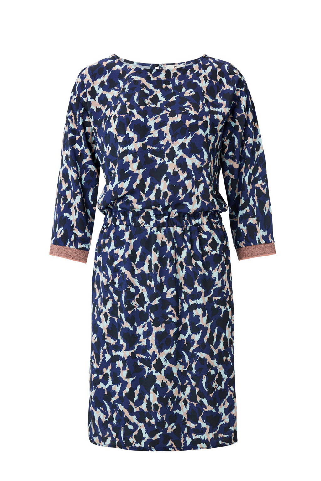 640baf13175 CKS jurk Marley met print blauw, Blauw/wit/roze
