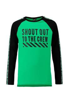 longsleeve met tekstopdruk groen