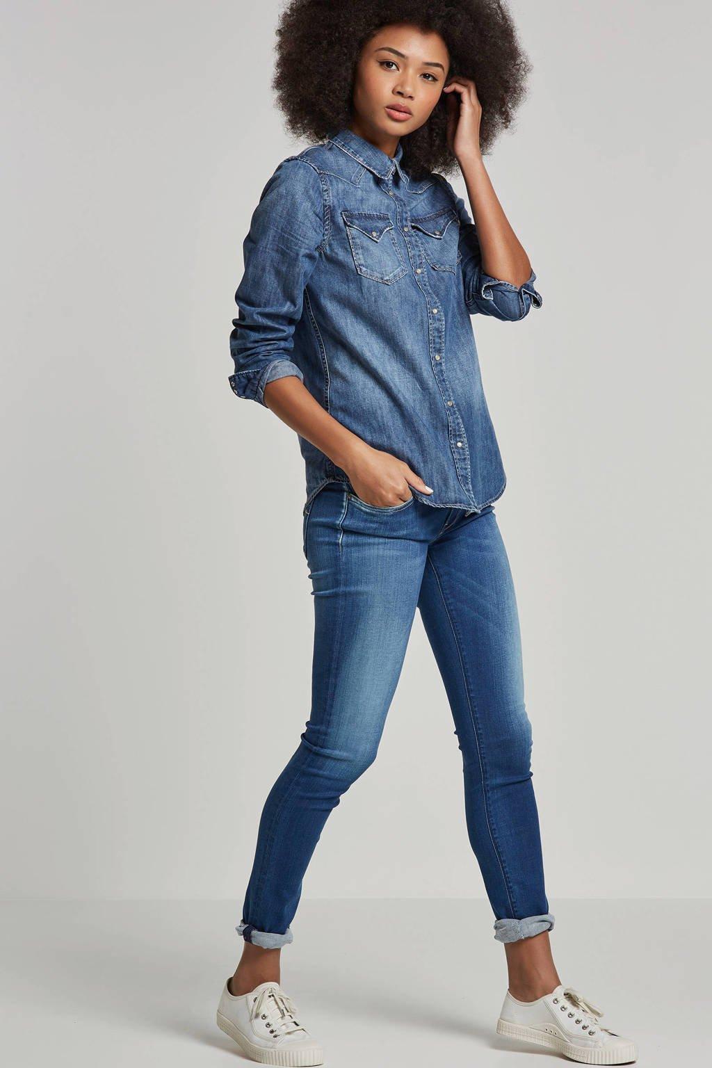 REPLAY LUZ skinny fit jeans, Blauw