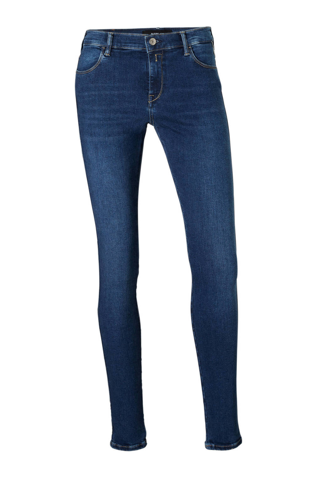 REPLAY high waist skinny fit jeans, Blauw