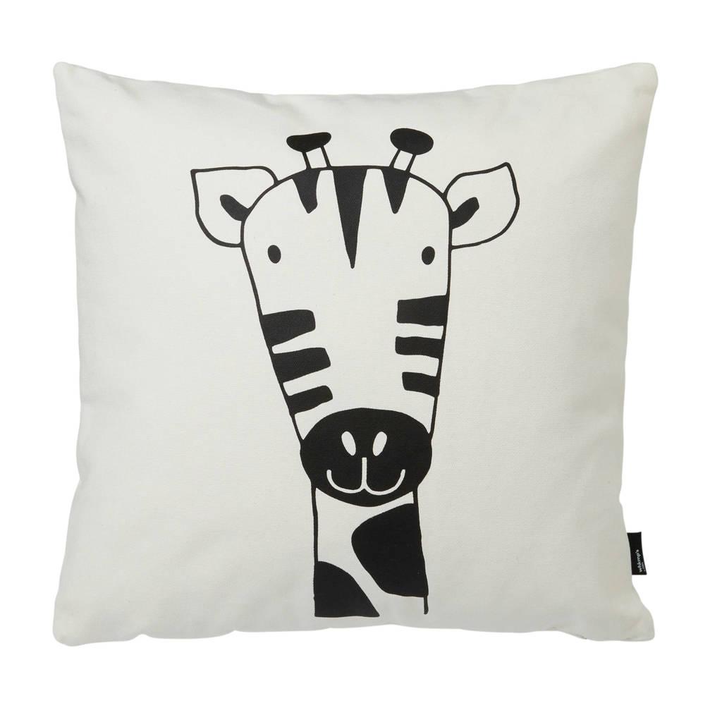 wehkamp beasty sierkussen Giraf (45x45 cm), Wit/zwart