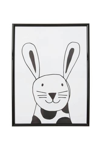 beasty poster in lijst Konijn (30x40 cm)